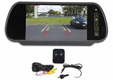 "Rockville Flush Angle Mount Backup Camera+Rearview Car Mirror With 7"" Monitor"