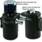ADD W1 Black Baffled Universal Aluminum Oil Catch can Reservoir Tank Ver.2