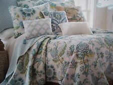 New KING Size Quilt & Shams ** Baby Blue Floral