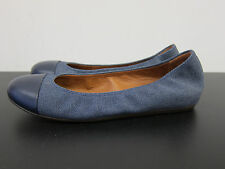 NEU Lanvin denim flache Schuhe Ballerinas flat shoes blau blue D37,5 UK4,5 3631