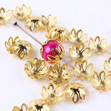 100/500pcs Silver/Golden Plated Flower End Beads Caps Charms Jewelry 12x5mm B8B