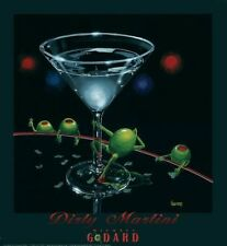 "Michael Godard-""DIRTY MARTINI"" Olive-Dancers-Strippers-Las Vegas-Club-Poster"