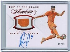 2016 Panini Flawless Soccer Top of the Class VAN PERSIE /15 Red NETHERLANDS Auto
