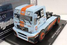 FLY 203103 MAN TR1400 GULF SUPER TRUCK FIA ETRC NEW 1/32 SLOT CAR W/ DISPLAY