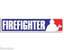 "9"" FIREFIGHTER FIRE MLB BASEBALL HELMET BUMPER EMBLEM DECAL STICKER MADE IN USA"