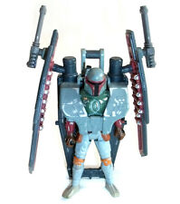 "STAR WARS Deluxe BOBA FETT 3.75"" action figure with armoured rocket pack NICE"