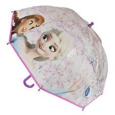 Regenschirm Disney Frozen Eiskönigin, Automatik, lila transparent Anna u. Elsa