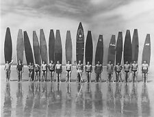 antique vintage SURF PHOTO SURFING BEACH black white  A1 SIZE PRINT