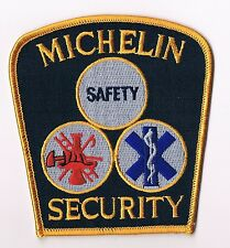 TRES RARE ECUSSON MICHELIN BIBENDUM A BRODER PROVENANCE USA : MICHELIN SECURITY
