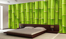 Bamboo  Wall Mural Photo Wallpaper GIANT DECOR Paper Poster Free Paste