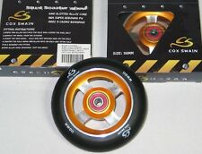 2 STÜCK KICKBOARD WHEELS ALUMINIUM 110 mm STUNT SCOOTER BOBBY CAR RENNEN  TOP!