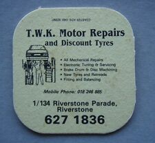 T.W.K. MOTOR REPAIRS DISCOUNT TYRES 1/134 RIVERSTONE PDE 6271836 COASTER