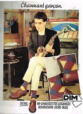 Publicité Advertising 1980 Les Chaussettes DIM
