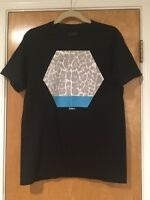 LA Notte Black Graphic Short Sleeve T Shirt 100% Cotton Made in USA Sz M/L EUC