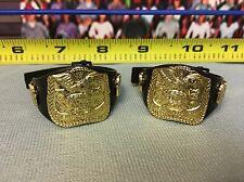 """WWE Wrestling Jakks Tag Team Championship Title Belts Lot of 2 for 6"""" Figures"""