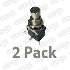 "SPDT (ON/ON) ""METAL BUTTON"" PUSH BUTTON SWITCH 4AMPS @ 125VAC #66-2460-2PK"