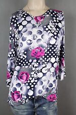 NEW WOMEN  TUNIC BLOUSE size 10/12  TOP  3/4  SLEEVE  LADIES  v 7548