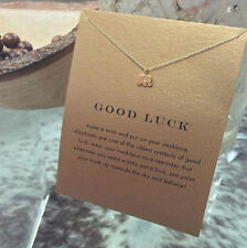 Lucky Cute Elephant Pendant Necklace Gold Plated