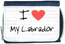 I Love Heart My Labrador Denim Wallet