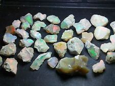 Opal Rough Ethiopian Welo Lot Flash Fire Multicolors - 505 cts - 135 pieces
