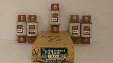 BUSSMAN TRON RECTIFIER FUSES *BOX OF 5*  250V/80A  KAB 80 *NEW IN BOX*