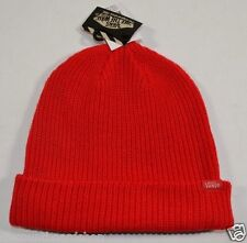 Vans CORE BASIC Bright RedUnisex Knit Hat Cap Men's Beanie