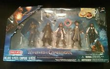 """New 2011 Pirates Of The Caribbean On Stranger Tides Figures 4"""" 5 Pack Target Ex"""