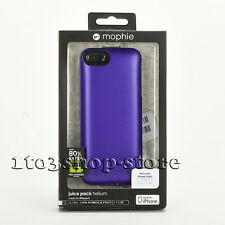 Mophie Juice Pack Helium 1500mha Battery Hard Case for iPhone Se 5s 5 Purple NEW