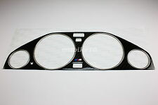 82-94 BMW E30 Carbon Cluster Dashboard Dial Gauge Bezel Trim & Chrome Rings