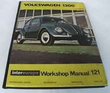 Peter Russek: VOLKSWAGEN 1200 WORKSHOP MANUAL, TO 1964.