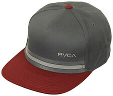 RVCA Barlow Twill Snapback Hat (Charcoal/Red)
