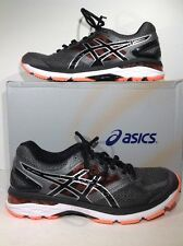 Asics Mens Size 9 2E Wide GT 2000 4 Gray Black Orange Running Shoes ZE-1320