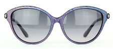 Tom Ford Priscila Sunglasses FT0342 342 83F Blue / Violet Iridescent Msrp $370