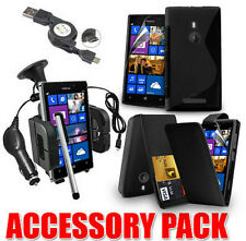 7 X ACCESSORY BUNDLE KIT FOR NOKIA LUMIA 925 + CASE COVER CAR HOLDER CHARGER
