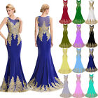Wedding Peacock Long Cocktail Formal Party Prom Pageant Ball Gown Evening Dress