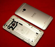 Original htc one m7 Tapa batería carcasa trasera en Battery cover housing Silver