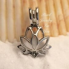 LOTUS Wish Pearl Cage Silver Pendant for akoya oyster pearls or beads