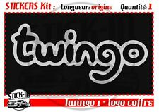 Autocollant Stickers Renault Coffre boot Twingo 1 - Dimensions Origine