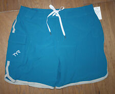 New TYR Men's SOLID BOARDSHORT / SWIM TRUNKS - TURQUOISE - LARGE / 34