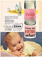 PUBLICITE ADVERSTISING  1960    EVIAN eau minérale bébé