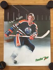 EARLY 80s VINTAGE WAYNE GRETZKY 7 UP ADVERTISEMENT POSTER - EDMONTON OILERS