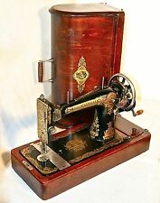VERY RARE 1924 UNUSUAL SINGER 127 MODEL GOSSVEJMASHINA ANTIQUE SEWING MACHINE