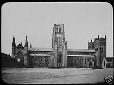 Glass Magic Lantern Slide DURHAM CATHEDRAL FROM THE NORTH C1890 PHOTO ENGLAND