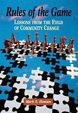 Community and Agency Counseling: Rules of the Game : Lessons from the Field...