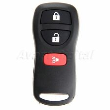 3 Button Keyless Entry Remote Key Fob Replacement with Chip for Nissan Infiniti