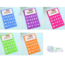 Mini Stationery Silicone Keyboard 8 Digits Soft and Foldable Calculator 6 Colors