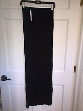 LA MADE Black Maxi Skirt w/ Side Slit Detail Size Small
