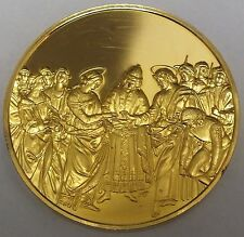 Masterpieces of Raphael Sterling Silver Medallion Marriage of the Virgin