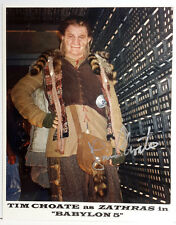 Babylon 5 Autograph 8x10 Photo Signed by Tim Choate as Zathras (LHAU-565)