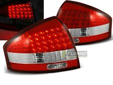 NEW TOP SET TAIL LIGHTS LDAU03 AUDI A6 97-04 RED WHITE LED